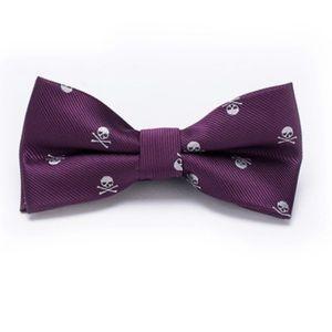 🆕 🌟✨ Men's Woven Jacquard Skull Bow tie ☠️💀